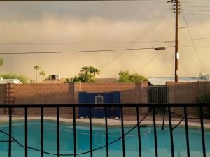 Phoenix Swimming Pool Haboob Summer